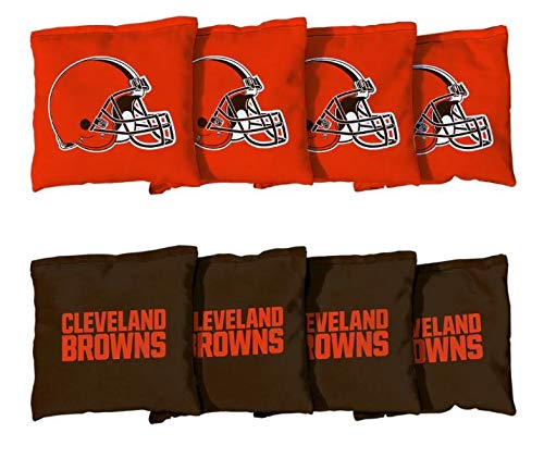 Victory Tailgate Cleveland Browns NFL Cornhole Game Bag Set (8 Bags Included, Corn-Filled)
