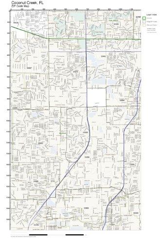Amazon.com: ZIP Code Wall Map of Coconut Creek, FL ZIP Code Map