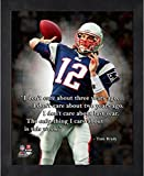 Tom Brady New England Patriots ProQuotes Photo (Size: 9'' x 11'') Framed