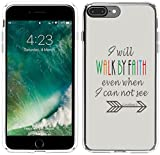Iphone 8 Plus Case Christian Quotes,Iphone 7 Plus Case, Apple Iphone 7/8 Plus Cover Bible Verses Sayings Motivational Inspirational