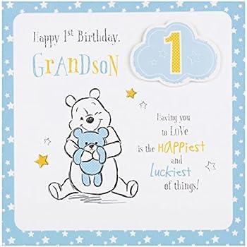 Amazon Winnie The Pooh Grandson On His 1st Birthday Card