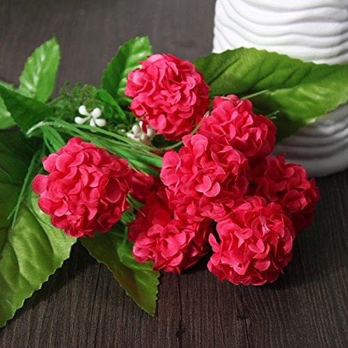 Ornamental vases Artificial Flowers Artificial Daisy Chrysanthemum Silk Flowers Floral Bouquet 8 Heads 7 Colors Home Garden - (Color: Light Purple) Zereff