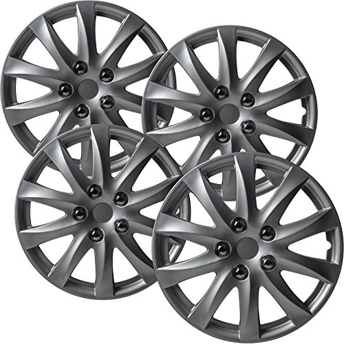 OxGord Hubcaps for 16 inch Standard Steel Wheels (Pack of 4) Wheel Covers - Snap On, (1987 Nissan Pathfinder Wheel)