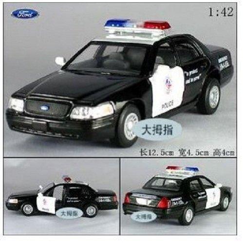 - Ford Crown Victoria Police Interceptor 1/42 Scale Diecast Metal Model - BLACK
