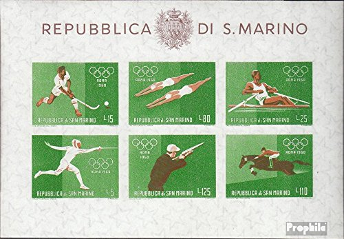San Marino block7 (Complete.Issue.) unmounted Mint/Never hinged 1960 Summer Olympics (Stamps for Collectors)