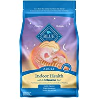 Blue Buffalo Indoor Health Natural Adulto Comida seca para gatos, pollo y arroz integral 7 libras