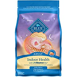 Blue Buffalo Indoor Health Natural Adult Dry Cat Food, Chicken & Brown Rice 7-lb