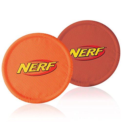nerf-dog-nylon-flying-disk-dog-toy-large-2-pack-red-and-orange