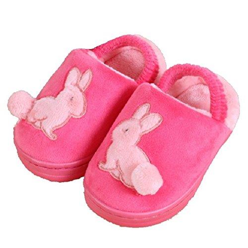 CYBLING Comfort Winter Soft Soled Non-slip Rabbit Toddler Boys Girls Cartoon Bunny Home Slippers