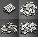 Lucksender 150pcs Silver Metal Uninsulated Wire Ferrule Cable Crimp Terminals Butt Connector(10 -12 AWG (4.0-6.0mm?) / 14 -16 AWG (1.5-2.5mm?) / 18 - 22 AWG (0.5-1.5mm?),each size 50pcs)