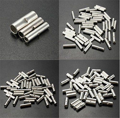 Lucksender pcs silver metal uninsulated wire ferrule