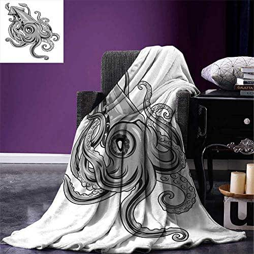 Bevis Trevelyan Baby Blanket Squid Fish with Fins Sea Spiritual Animal Cuttlefish Underwater Alien 60