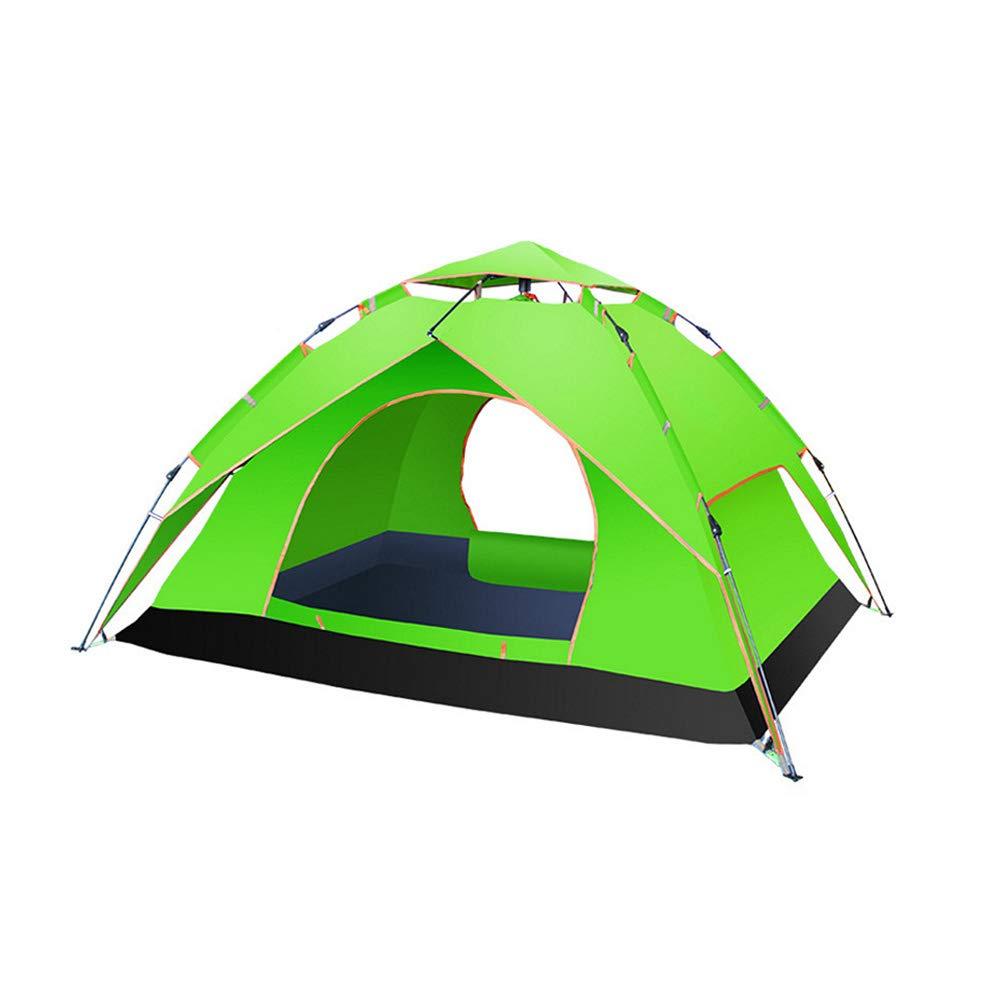 Douerye Outdoor-Camping-Feder-Automatik-Zelt, 3-4 Personen Doppel-Zeltzelt