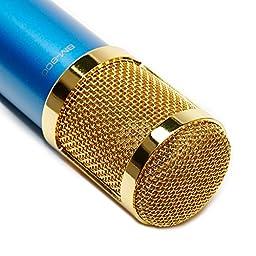 CO-Z Pro BM800-Blue Audio Condenser Microphone Studio Sound Recording Cardioid Mic with Shock Mount