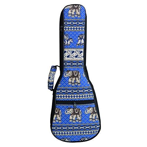 HOT SEAL New Bohemia Ethnic Style 10MM Thick Durable Ukulele Case Bag with Large Storage Uke Backpack (21 in, New Bohemia - Track Canada Usps To Package