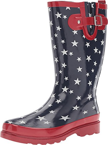 Western Chief Women's Patriotic Stars Navy Boot 6 B (Rubber Western Boots)