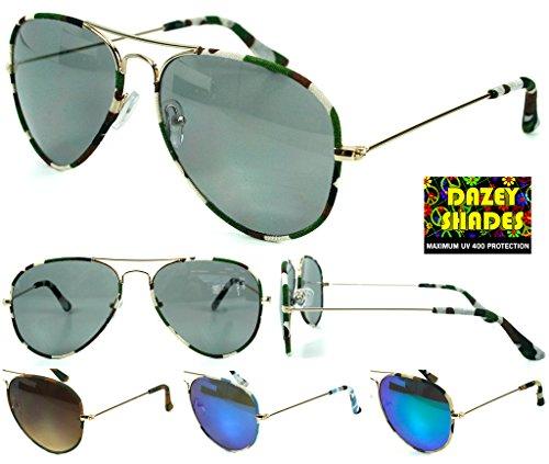 Wholesale Lot of 12 Womens Dazey Shades Camo Aviators Assorted Sunglasses UV - Wholesale Sunglasses Camo