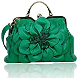 Zzfab Big Flower Purse with Clasp Green