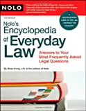 Nolo's Encyclopedia of Everyday Law, Shae Irving, 1413305601