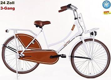Bicicleta holandesa para niña, 24 pulgadas, 3 marchas Color Blanco ...