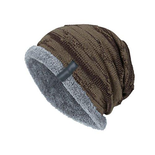 Diseño Casual Encapuchado de YiJee más Beige Hombre Gorro Invierno Retro Punto Sombreros Vellosidades Cálido nxxSqZv