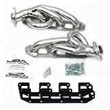 JBA 1961S-1JS 1-5/8'' Shorty Stainless Steel Silver Ceramic Exhaust Header for Ram 5.7L Hemi 2500 4WD 1500