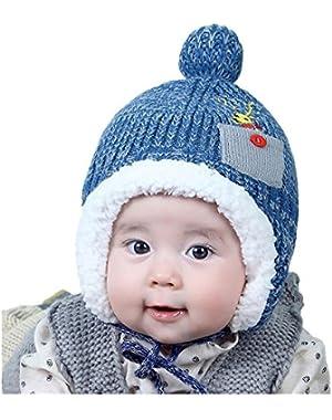 Winter Baby Boy Girl Ear Cap Hat Beanie Warmer Knitted Hat Cotton Hats