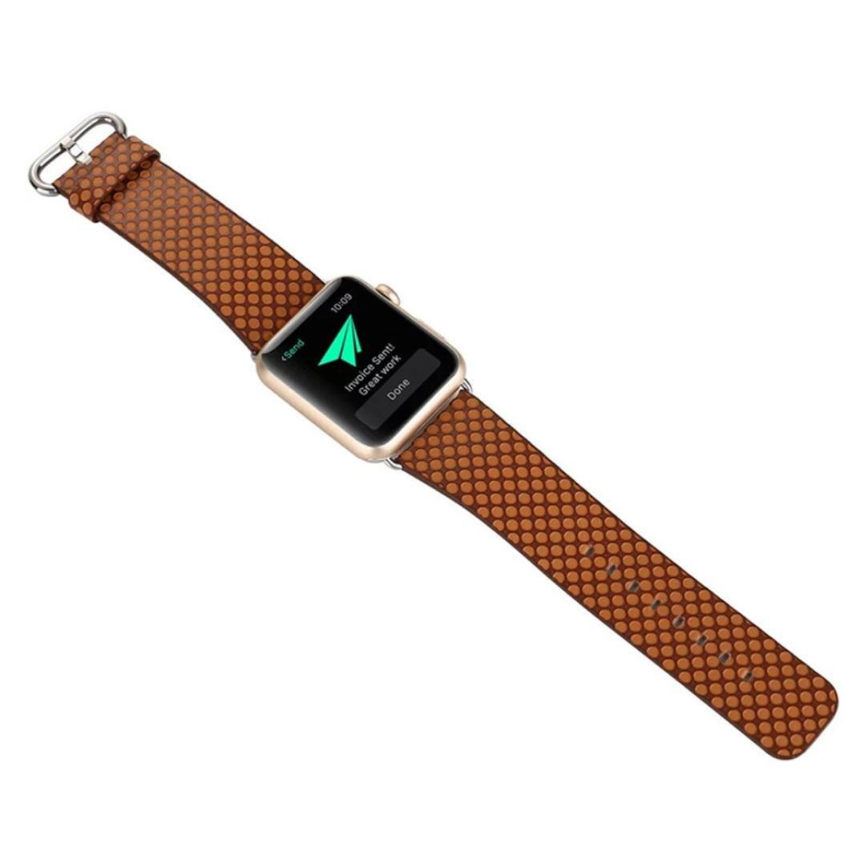 リストバンド、Ankola手首ブレスレットSingle TourレザーバンドComfotable for Apple Watchシリーズ1 / 2 42mm ブラウン 42mm ブラウン ブラウン 42mm B0728D1HTL