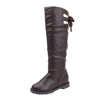 Boots Damen Braun,Stiefeletten Damen Stiefel Damen