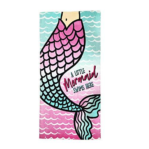 CC EFIND Mermaid Tail Beach Towel Cotton Terry Towel 24