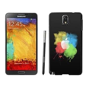 Personalized Phone Case Paint Brush Color Splash Apple Logo Dark Galaxy Note 3 Wallpaper