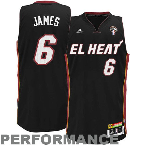 best service c08ee 07055 Amazon.com : Miami Heat Lebron James Latin Nights Swingman ...