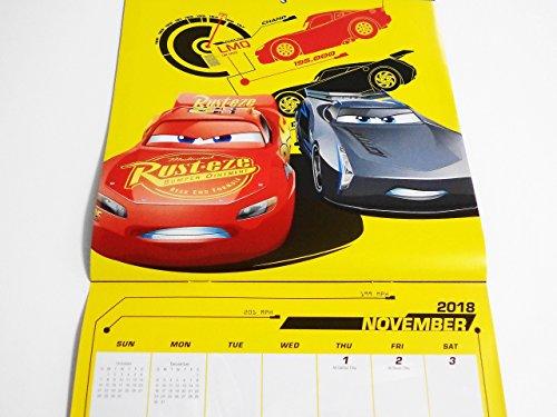 Disney Pixar Cars 3 2018 Calendar and Sandylion Sticker Bundle Photo #6