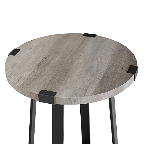 WE Furniture AZF18MWSTGW Side Table, Grey Wash by WE Furniture (Image #2)