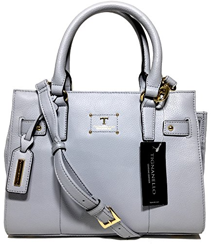 Tignanello Bella Belted Satchel, Light Lilac, T59210 (Tignanello Leather Genuine)
