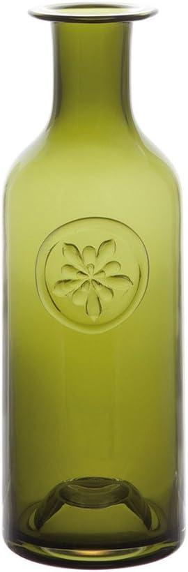Dartington VA2422/GRN Aquilegia - Botella Decorativa de Cristal (25 cm), Color Verde