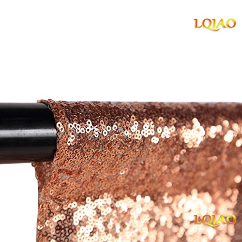 - LQIAO Sequin Backdrop Curtain Panel 2x8FT-Rose Gold,Sequin Photography Backdrop Curtain for Party/Home Curtain Decoration 1pc, Pocket 2x8FT(60x245cm))