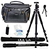 Dolica AX620B100 62-Inch Proline Tripod and Ball Head + Dolica WT-1003 67-Inch Lightweight Monopod + Vidpro TL-60 Deluxe Digital DSLR Camera Case Bag Everything You Need Combo Kit for Sony Alpha DSLR-A580 NEX-5N NEX-5R NEX-5T