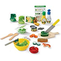Melissa & Doug Slice 52 Wooden and Felt Pieces Play Food Set