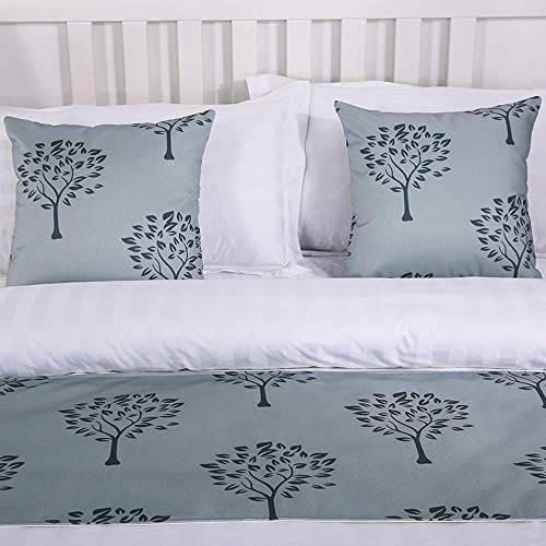 Mengersi Rippling Bed Runner Scarf Protector Slipcover Bed Decorative Scarf for Bedroom Hotel Wedding Room (2 Pillowcases(18
