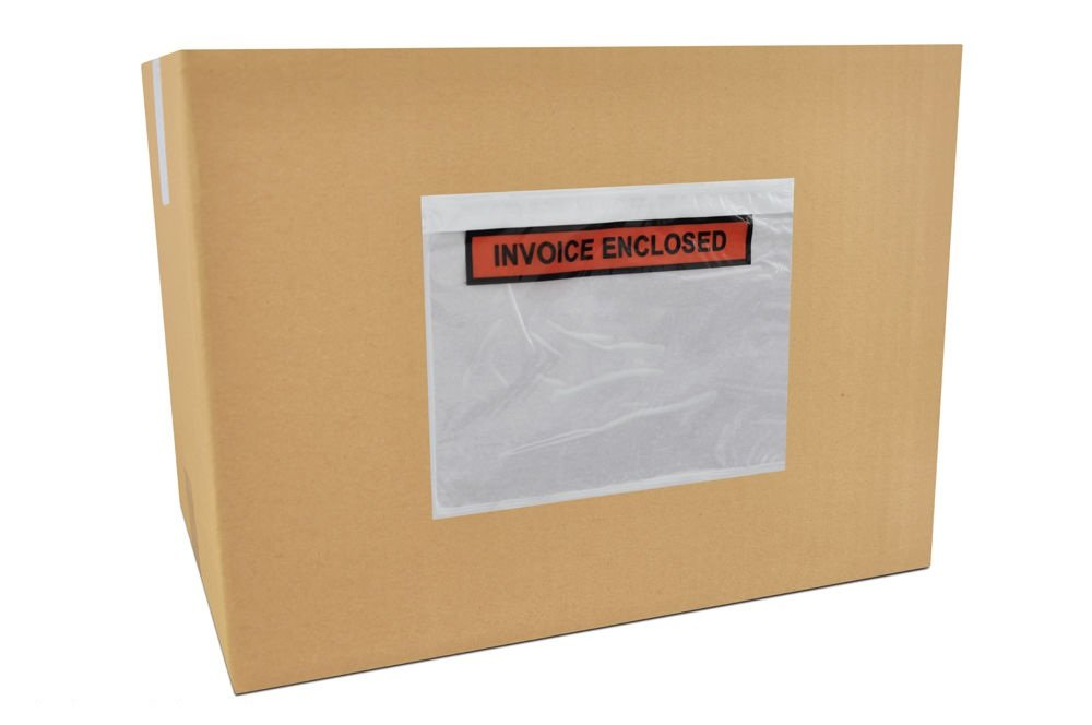 Invoice Enclosed Packing List Envelopes Panel Face Back Load 2.0 Mil Thick - 4.5\' X 5.5\' 1000 /Case PackagingSuppliesByMail
