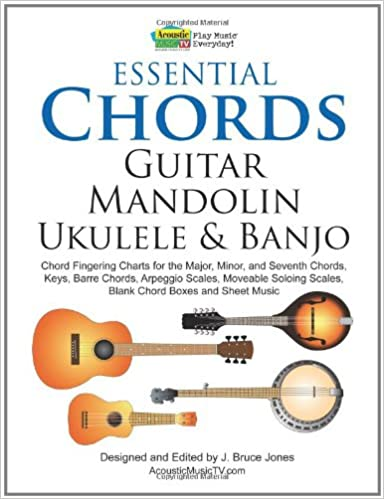 Amazon.com: Essential Chords, Guitar, Mandolin, Ukulele and Banjo ...