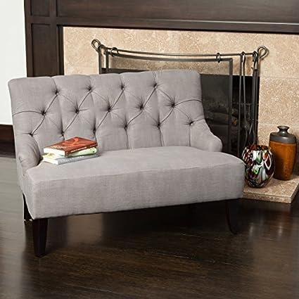 Mariana Grey Fabric Settee