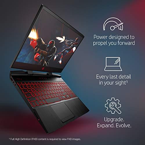 OMEN by HP 15.6-inch Gaming Laptop, i5-8300H Processor, GeForce GTX 1050Ti 4GB, FHD IPS Thin Display, 12GB 2666MHz RAM, 1TB HDD & 128GB PCIE SSD, Windows 10 (15-dc0010nr, Black), Metal