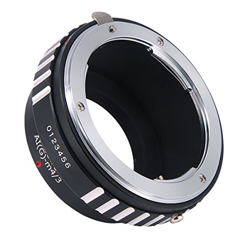 Haoge Manual Lens Mount Adapter for Nikon Nikkor G/F / AI/AIS / D Mount Lens to Olympus and Panasonic Micro Four Thirds MFT M4/3 M43 Mount Camera
