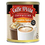 Caffe D'Vita Pumpkin Spice Cappuccino, 16-Ounce Cans (Pack of 6)