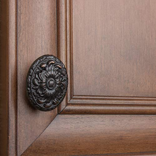 GlideRite Hardware 5710-ORB-50 Old World Ornate Oval Cabinet Knobs, 50 Pack, 2'', Oil Rubbed Bronze by GlideRite Hardware (Image #5)