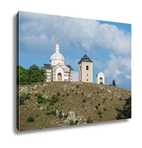 Ashley Canvas, Holy Hill With Saint Sebastian Chapel In Mikulov Town In Czech Republic, Home Decoration Office, Ready to Hang, 20x25, AG6006451 by Ashley Canvas