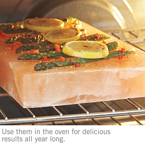 Himalayan Natural Crystal Salt Cooking Tile 10'' X 6'' X 2'' With Free Recipe Guide Included by Rocking Salt (Image #5)