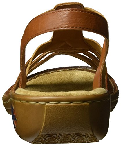 Rieker 60171, Sandalias con Cuña para Mujer Marrón (Cayenne / 24)